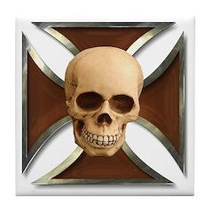 Skull & Cross Tile Coaster