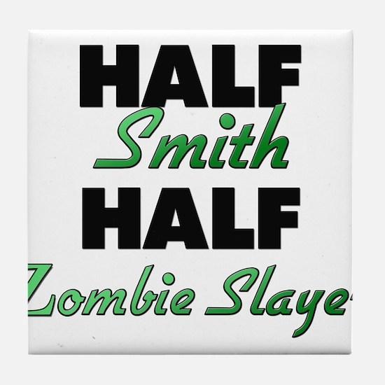 Half Smith Half Zombie Slayer Tile Coaster