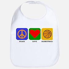 Peace Love Basketball Bib
