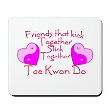 Tae Kwon Do Valentine Pink Yin Yang Heart Mousepad