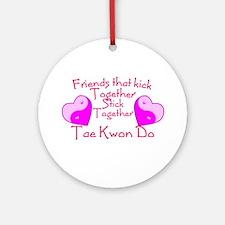 Tae Kwon Do Valentine Pink Yin Yang Heart Ornament