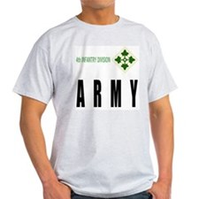 4th INFANTRY DIVISION Ash Grey T-Shirt