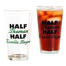 Half Shaman Half Zombie Slayer Drinking Glass