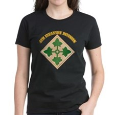 SSI - 4th Infantry Division with text Tee