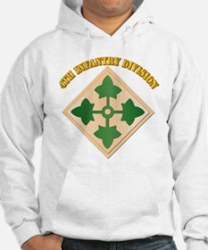 SSI - 4th Infantry Division with text Hoodie
