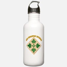 SSI - 4th Infantry Division with text Water Bottle