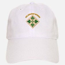 SSI - 4th Infantry Division with text Baseball Baseball Cap