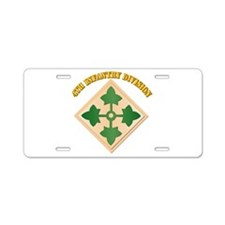 SSI - 4th Infantry Division with text Aluminum Lic