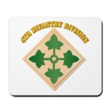 SSI - 4th Infantry Division with text Mousepad