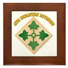 SSI - 4th Infantry Division with text Framed Tile