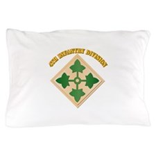 SSI - 4th Infantry Division with text Pillow Case
