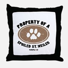 St. Weiler dog Throw Pillow