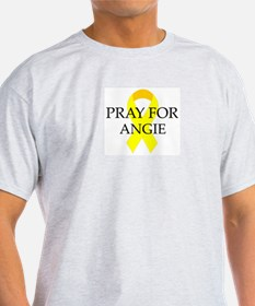Pray for Angie Ash Grey T-Shirt