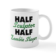 Half Sculptor Half Zombie Slayer Mugs
