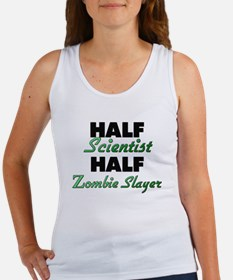 Half Scientist Half Zombie Slayer Tank Top