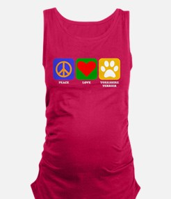 Peace Love Yorkshire Terrier Maternity Tank Top