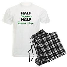 Half Sapper Half Zombie Slayer Pajamas