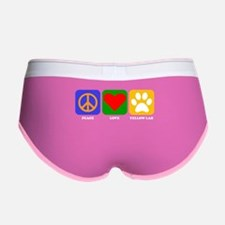 Peace Love Yellow Lab Women's Boy Brief
