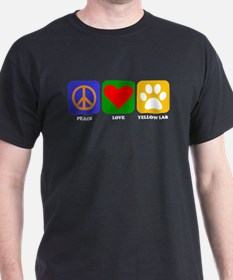 Peace Love Yellow Lab T-Shirt