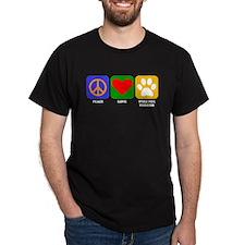 Peace Love Wire Fox Terrier T-Shirt