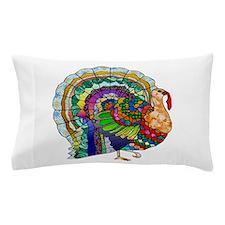 Patchwork Thanksgiving Turkey Pillow Case