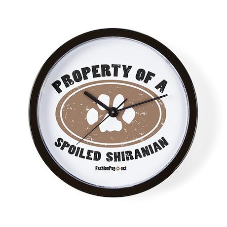 Shiranian dog Wall Clock
