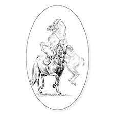 Elegant Horse Oval Decal