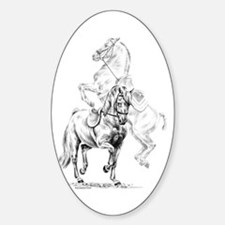 Elegant Horse Oval Decal