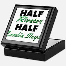 Half Riveter Half Zombie Slayer Keepsake Box