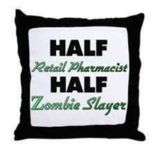 Half Retail Pharmacist Half Zombie Slayer Throw Pi