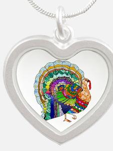 Patchwork Thanksgiving Turkey Necklaces