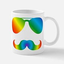 Pride sunglasses Rainbow mustache Mugs