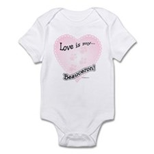 Love is my Beauceron Infant Bodysuit