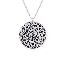 Black And White Leopard Print Necklace
