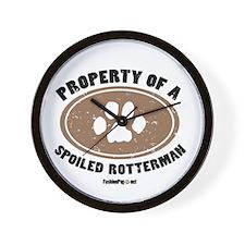 Rotterman dog Wall Clock