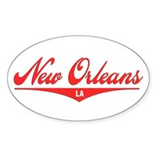 New Orleans LA Oval Decal