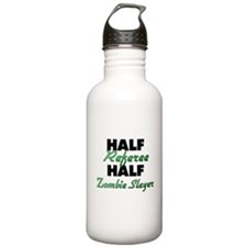 Half Referee Half Zombie Slayer Water Bottle