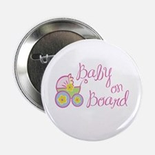 (Pink) Baby on Board Button