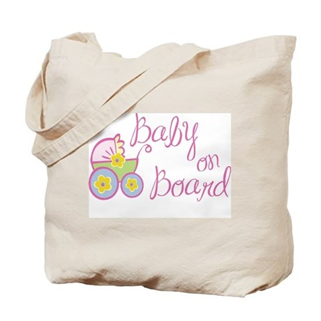 (Pink) Baby on Board Tote Bag