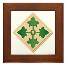 SSI - 4th Infantry Division Framed Tile