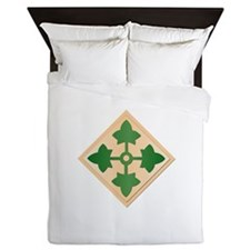 SSI - 4th Infantry Division Queen Duvet