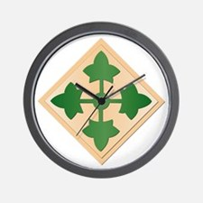 SSI - 4th Infantry Division Wall Clock