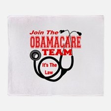 Join The Obamacare Team Throw Blanket