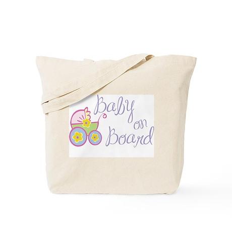 (Purple) Baby on Board Tote Bag