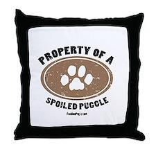 Puggle dog Throw Pillow
