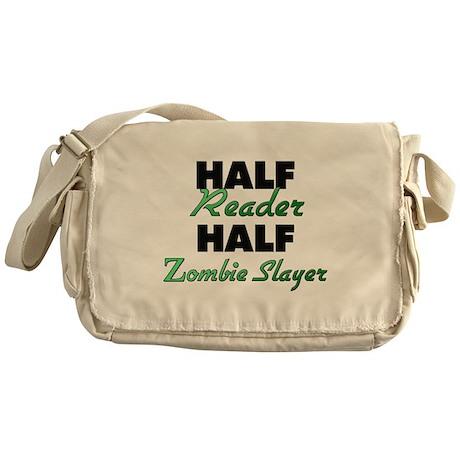Half Reader Half Zombie Slayer Messenger Bag
