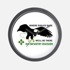 4th INFANTRY Wall Clock