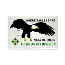 4th INFANTRY Rectangle Magnet (10 pack)