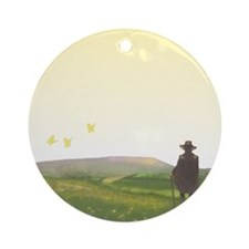 A Vision of Pendle Hill Ornament (Round)