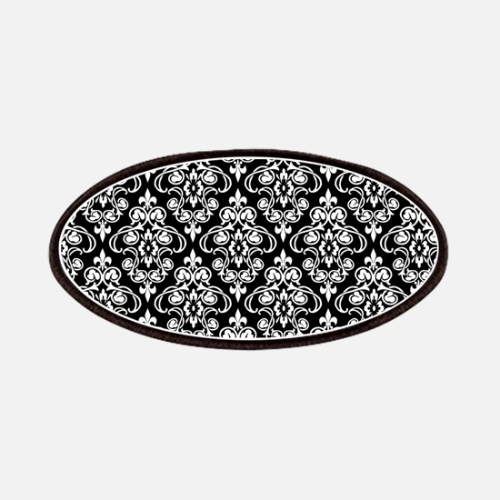 White & Black Damask #36 Patches